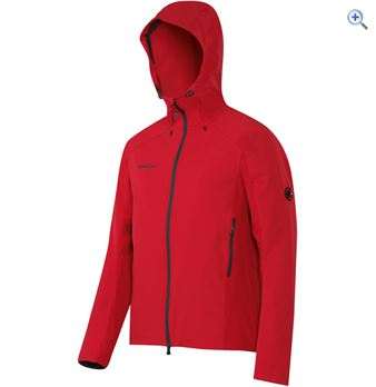 Mammut Mens Base Jump SO Hooded Jacket  Size S  Colour Red