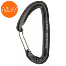 Photon Wire Straight Gate Carabiner (Black)