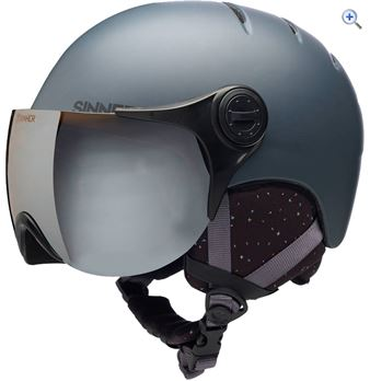 Sinner Crystal Ski Helmet - Size: M - Colour: MATTE DK GREY