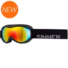 Toxic S Junior Ski Goggles (Clear Matte Black/Double Red Revo)