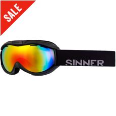 Toxic Ski Goggles (Clear Matte Black/Double Red Revo)