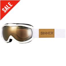 Toxic Ski Goggles (Clear Matte White/Double Gold Mirror)