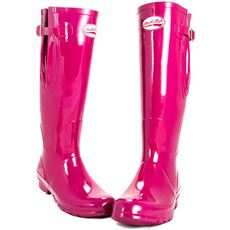 Women's Tall Adjustable Gloss Magenta Wellies