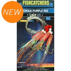 Fishcatcher 5 Hook Hokkai Purple Rig 2/0