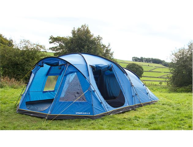 Blue ...  sc 1 st  Tents | C&ing Equipment | Outdoor Clothing - GO Outdoors & Hi Gear Voyager Elite 6 Family Tent | GO Outdoors
