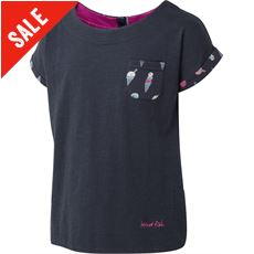 Girls' Pow Wow AOP Trim T-Shirt