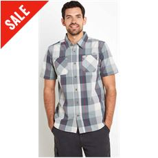 Rewind Cotton Short Sleeve Check Shirt