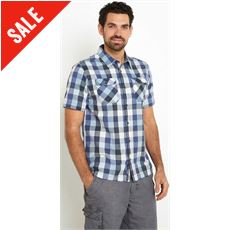 Men's Octane Cotton Short Sleeve Check Shirt