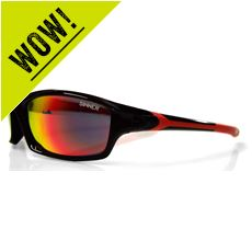 Eaton Sunglasses (Shiny Black / Red Revo)