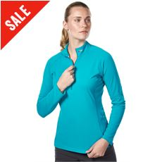 Women's Tech Tee LS Zip Neck