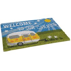 Heavy Duty Welcome To Our Caravan Mat