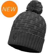Airon Knitted & Polar Fleece Hat (Melange Grey)