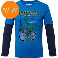 Kids' Squid Long Sleeve Graphic Print T-Shirt