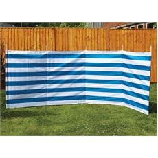 5 Pole Family Windbreak (Blue Stripe)