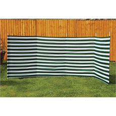 5-Pole Family Windbreak (Green Stripe)