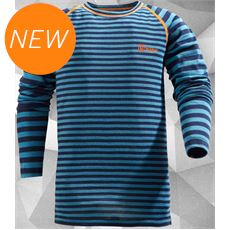 Kids' Striped Merino Baselayer Top