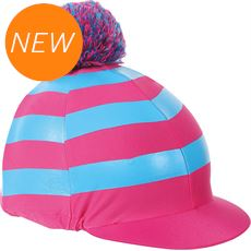 Pom Pom Hat Cover with Stripes