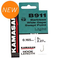B911 Heavy Barbless Hooks To Nylon Size 14 10pk
