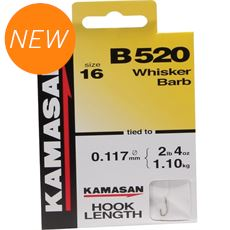 B520 Barbed Hooks To Nylon Size 18 10pk