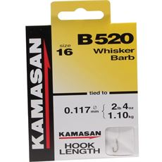 B520 Barbed Hooks To Nylon Size 22 10pk