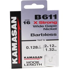 B611 XStrong Hooks To Nylon Barbed Size 18 10pk