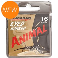 Animal Eyed Hook Barbed Size 12 10pkt