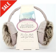 Fur Ear Muffs with Gel Packs