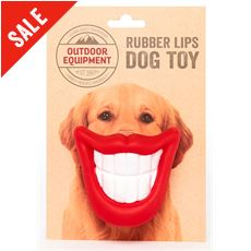 Rubber Lips Dog Toy