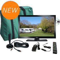 "TV Plus Pack - 16"" LED TV, 12V & Mains (with magnetic mount Freeview antenna)"