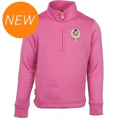 Kids' Plum 1/4 Zip Fleece