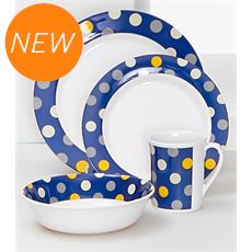 Melamine Print 16 Piece Tableware Set
