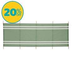 5-Pole Wooden Windbreak
