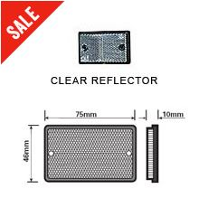 Clear Oblong Reflector
