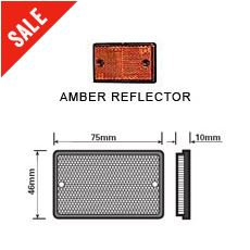 Amber Oblong Reflector