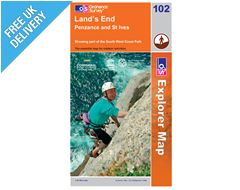 Explorer Map OL102 Land's End, Penzance and St. Ives