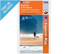 Explorer Map OL104 Redruth & St Agnes, Camborrne and Perranporth