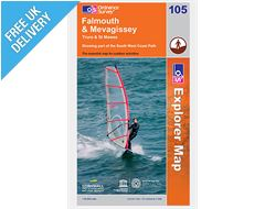 Explorer Map OL105 Falmouth and Mevagissey, Truro & St Mawes