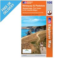 Explorer Map OL106 Newquay and Padstow, Wadebridge, Port Isaac & St Columb Major