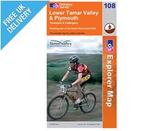 Explorer Map OL108 Lower Tamar Valley & Plymouth, Tavistock and Callington