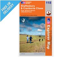 Explorer Map OL118 Shaftesbury & Cranborne Chase
