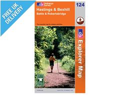 Explorer Map OL124 Hastings and Bexhill (Battle & Robertsbridge)