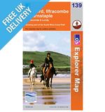 Explorer Map 139 Bideford, Ilfracombe &amp; Barnstaple