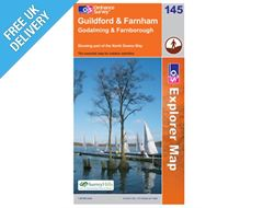 Explorer Map 145 Guildford and Farnham