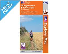 Explorer Map 149 Sittingbourne & Faversham