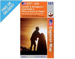Explorer Map 151 Cardiff & Bridgend