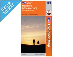 Explorer Map 158 Newbury & Hungerford