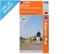 Explorer Map 159 Reading (Wokingham & Pangbourne)