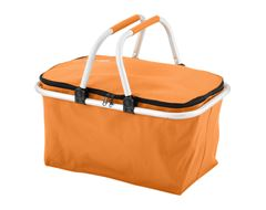 Folding Picnic Basket (Orange)