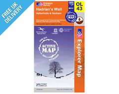 Explorer Active Map OL43 Hadrian's Wall, Haltwhistle & Hexham