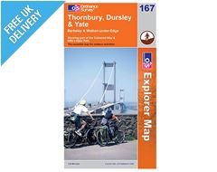 Explorer Map 167 Thornbury, Dursley & Yate
